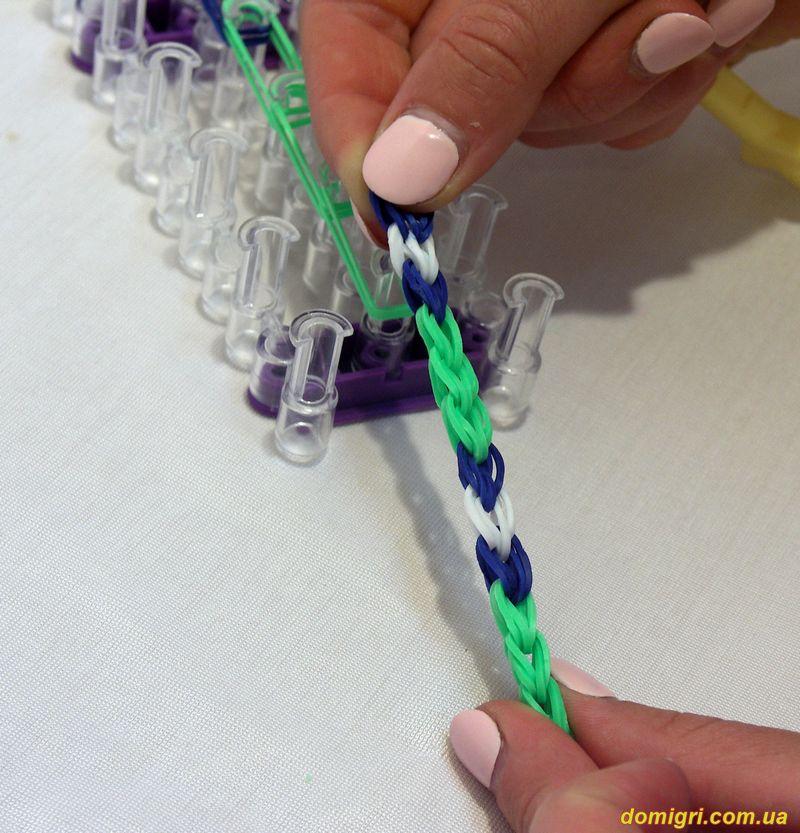 Мастер класс - плетение игрушки - змейки из резиночек