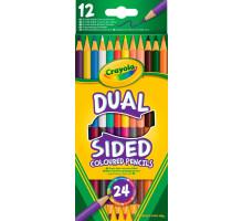 Двосторонні кольорові олівці (24 кольори), 12 штук (68-6100 Crayola)