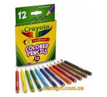Короткие цветные карандаши, 12 штук (4112 Crayola)