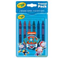 Набор восковых мелков с раскрасками, Paw Patrol (04-0437 Crayola)