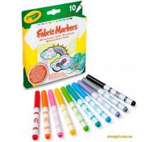 Фломастеры для рисования на ткани, 10 штук (58-8633 Crayola)