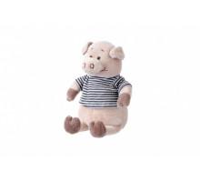 Мягкая игрушка Same Toy Свинка в тельняшкее (черный) 18см THT716