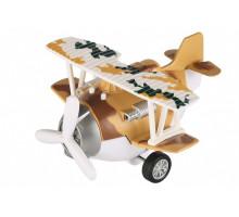 Самолет металический инерционный Same Toy Aircraft коричневый SY8016AUt-3