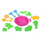 Набор для игры с песком Same Toy 13 ед розовый B002-3Ut-2