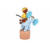 Іграшка goki натисни і тряси Слоник 53932G-4