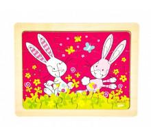 Пазл дерев'яний goki Кролики Susibelle 57506-5