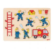 Пазл-вкладыш вертикальный goki Пожарная команда 57471G