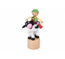 Іграшка goki натисни і тряси Корівка 53932G-3