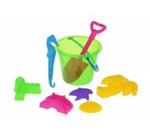 Набор для игры с песком Same Toy 8 шт зеленое ведро HY-1204WUt-3