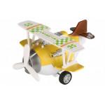 Самолет металический инерционный Same Toy Aircraft желтый SY8016AUt-1