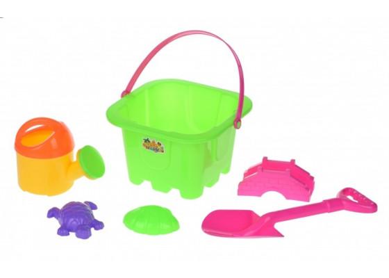 Набор для игры с песком Same Toy 6 шт зеленый HY-1142WUt-1
