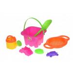 Набор для игры с песком Same Toy 7 шт розовый HY-1143WUt-1