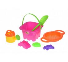 Набір для гри з піском Same Toy 7 шт рожевий HY-1143WUt-1