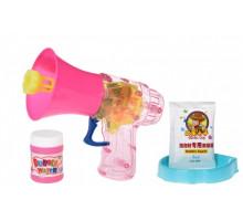 Мильні бульбашки Same Toy Bubble Gun Рупор зі світлом рожевий 925AUt-2