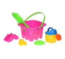 Набор для игры с песком Same Toy 6 шт розовый HY-1142WUt-2