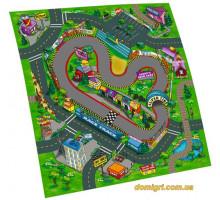 Игровой коврик с машинкой и дорожными знаками (SQ80671-F)