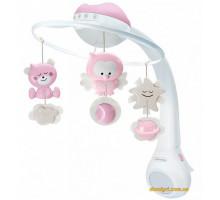 Мобиль музыкальный с проектором 3 в 1, розовый (004914I Infantino)