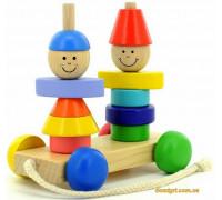 Пирамидка-каталка Мальчик и девочка (Д354 МДИ)