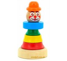 Пирамидка Клоун 1, Мир деревянных игрушек
