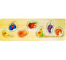 Рамка-вкладиш Фрукти малі, Мир дерев'яних іграшок