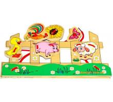 Шнуровка Домашние животные, Мир деревянных игрушек