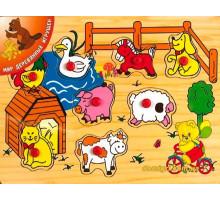 Рамка-вкладиш Сільський двір 2, Мир дерев'яних іграшок