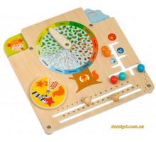 Бизиборд Календарь природы, Мир деревянных игрушек