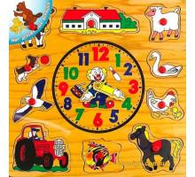 Рамка-вкладиш Годинник, Світ дерев'яних іграшок