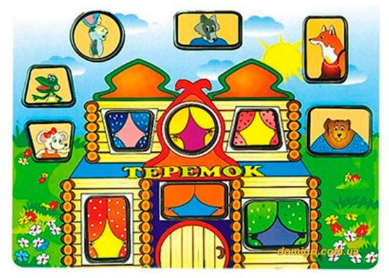 Рамка-вкладыш Теремок, Мир деревянных игрушек