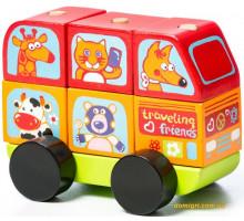 Автобус Веселые животные LM-10 (13197 Cubika)