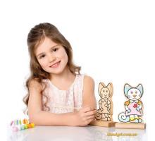 Игра-раскраска Котик (с красками) (13845 Cubika)