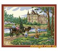 Рисование по номерам - Деревенский пейзаж - Дорога в замок (MG198 Идейка)
