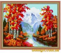 Рисование по номерам - Пейзаж - Золотая осень (MG013 Идейка)