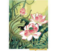 Рисование по номерам - Цветы, фрукты - Цветы лотоса (MG040 Идейка)