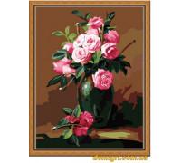 Рисование по номерам - Букеты, натюрморты - Букет из чайных роз (MG174 Идейка)