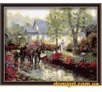 Рисование по номерам - Деревенский пейзаж - Весенняя улица (MG033 Идейка)