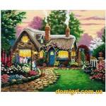 Рисование по номерам - Загородный дом - Маленький сказочный домик (MG047 Идейка)
