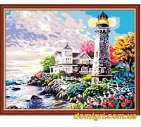 Рисование по номерам - Морской пейзаж - Свет маяка (MG192 Идейка)
