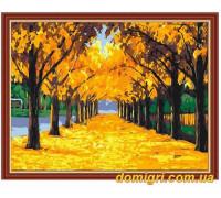 Рисование по номерам - Пейзаж - Осенняя аллея (MG221 Идейка)