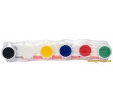 Набор акриловых красок Идейка 6x2,5 мл с кисточкой (7118 Идейка)