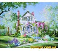 Рисование по номерам - Загородный дом - Волшебный сад (MG299 Идейка)