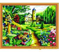 Рисование по номерам - Пейзаж - Замок и парк (MG251 Идейка)