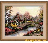 Рисование по номерам - Деревенский пейзаж - Каменный мостик (MG031 Идейка)