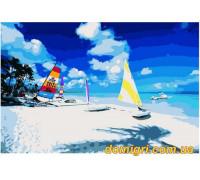 Рисование по номерам - Морской пейзаж - Карибский пляж (MG114 Идейка)