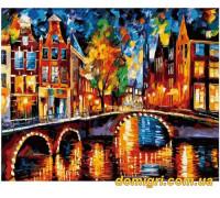 Рисование по номерам - Городской пейзаж - Огни Амстердама (MG1013 Идейка)