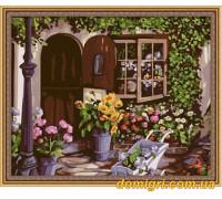 Рисование по номерам - Загородный дом - Уютный цветочный магазин (MG017 Идейка)