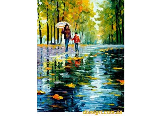 Рисование по номерам - Люди - Прогулка под дождем (MG064 Идейка)
