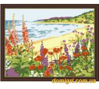 Рисование по номерам - Морской пейзаж - Романтичный берег (MG206 Идейка)