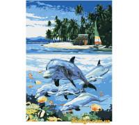 Рисование по номерам - Животные, птицы - Дельфинья бухта (G353 Идейка)
