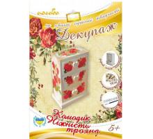 Декупаж Комодик Ніжність троянд (94503 Ідейка)